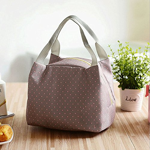 mk. park - Portable Insulated Thermal Cooler Lunch Box Carry Tote Storage Bag Picnic Case (Gray)