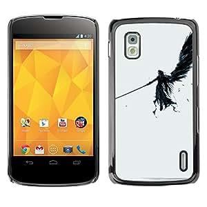 GIFT CHOICE / SmartPhone Carcasa Teléfono móvil Funda de protección Duro Caso Case para LG Nexus 4 E960 /DARK ANGEL/