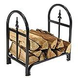 Sunnydaze 2-Foot Firewood Log Rack, Indoor/Outdoor Decorative Wood Storage Stacker