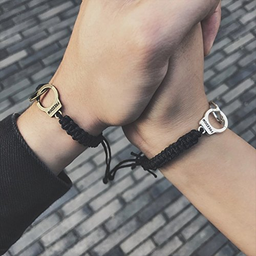 Valentine tide wild dime name interlock knit practical fashion couple bracelet hand rope to send his girlfriend cute Generic
