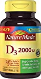 #4: Nature Made Vitamin D3 2000 IU Tablets 220 Ct Value Size (Packaging may vary)
