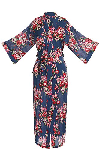 Bridesmaids Kimono Robes Floral Wedding Gifts Bathrobes Sleepwear Long -
