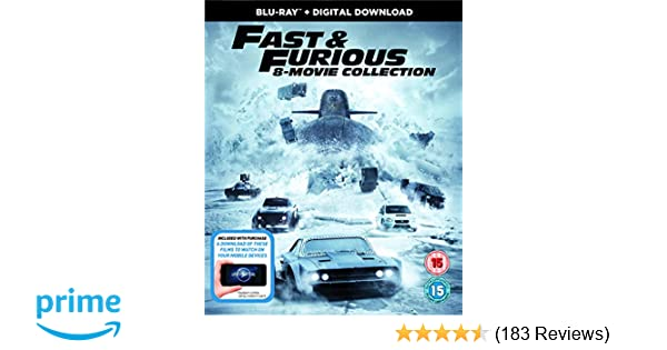 Amazon.com: Fast & Furious 8-Movie Collection 1-8, UK release: Movies & TV