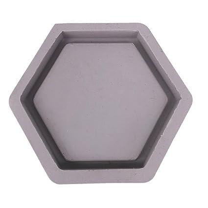Molde de silicona con forma de hexágono para maceta de plantas suculentas, molde de silicona