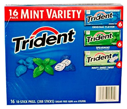Trident Mint Variety Gum, 16 Count