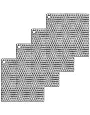 Oishii 4-delige set pannenonderzetters van siliconen - ronde pannenlappen hittebestendig tot 230 °C