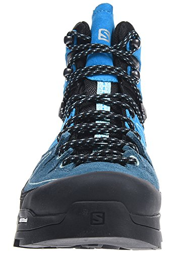 Salomon X Alp Mid Ltr Gtx W, Botas para Mujer Negro (Black/Hawaiian Ocean/Aruba Blue)