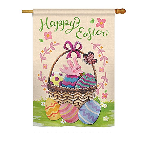 Happy Easter Colourful Basket Eggs - Spring Easter Decoration - 28
