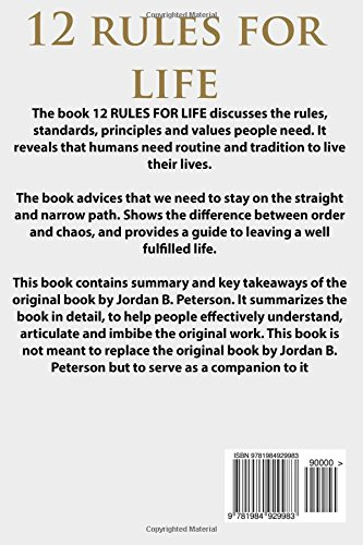 amazon summary 12 rules for life an antidote to chaos onehour