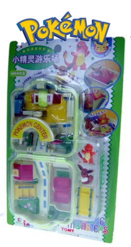 Pokemon Center Playset with Charmander and Eevee (Polly Pocket Style (Pokemon Playsets)