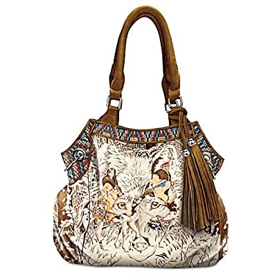 Diana Casey Mystic Wolf Native American-Inspired Women's Handbag by The Bradford Exchange