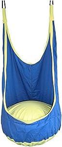 Hanging Hammock Chair Hammock Swing Chair Porch Swing Hanging Chairs Outdoor Egg Chair Swinging Chair Bedroom Decor for Teen Girls Room Decor Living Room Chairs for Bedroom (Color : Blue)