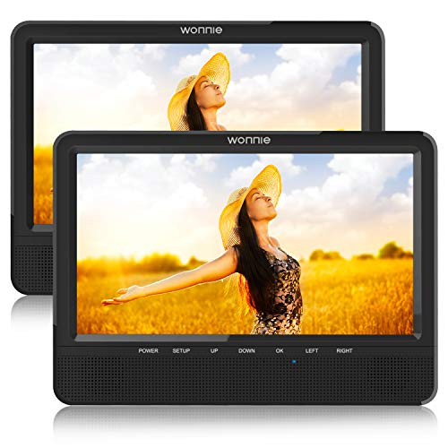 WONNIE Dual Car Headrest DVD Player with 10.5 inch LCD Screen