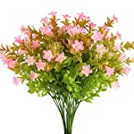 XYXCMOR-4pcs-Artificial-Lilies-Flowers-Plastic-Greenery-Plants-Fake-Floral-Bushes-Faux-Shrubs-Wedding-Table-Centerpieces-Arrangements-Indoor-Outdoor-Home-Garden-Windowsill-Door-Decoration
