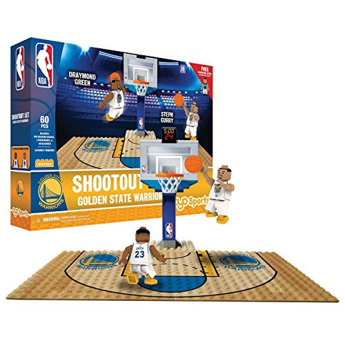 NBA Golden State Warriors Display blocks Shootout Set, Small, No color by OYO