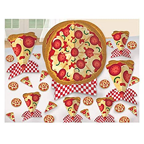 Image Unavailable Not Available For Color HAPPY BIRTHDAY PIZZA PARTY TABLE DECORATING