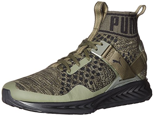 PUMA Men's Ignite Evoknit Cross-Trainer Shoe, Burnt Olive/Forest Night/Puma Black, 10.5 M US