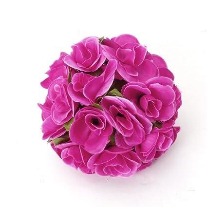 Buy artificial flower rose ball for home wedding decoration artificial flower rose ball for home wedding decoration shocking pink mightylinksfo