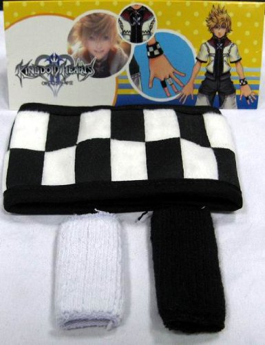 Kingdom Hearts: Roxas Checker Wristband & Finger ()