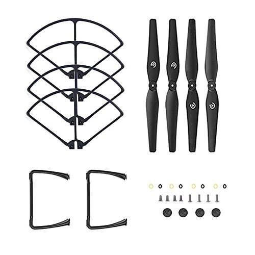 DEERC Spare Parts Propellers Blades and Landing Gears Propeller Guards Accessories for HS100 and HS100G RC Drone