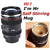 Coffee Cup, Camera Lens Self-Stirring Tea Thermos Stainless Steel Insulated Mug