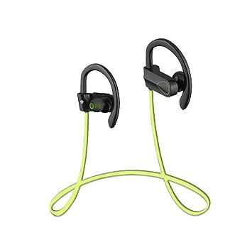 Bluelover Cx-2 Auriculares Inalámbricos Bluetooth 4,1 Sport Music Auriculares para iPhone Samsung - Verde: Amazon.es: Hogar