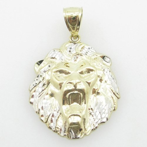 mens-10k-yellow-gold-lion-head-pendant-length-173-inches-width-114-inches
