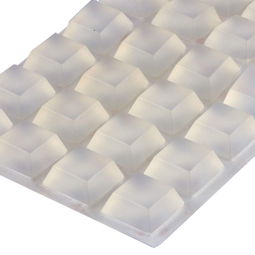Trapezoidal protecci/ón de superficie de amortiguaci/ón de sonido 20 x 20 x 8 mm negro INCREWAY Almohadillas de silicona adhesivas para parachoques autoadhesivas