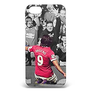 Classical The FA Premier League Design Chelsea Football Club Phone Case Fashional 3D Plastic Back Case Cover Snap on Iphone 5/5s with Cool Radamel Falcao Symbol