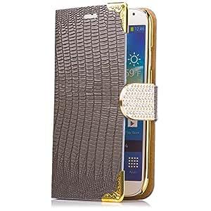iCues AM21 para teléfono móvil con diamantes de imitación de cocodrilo para Samsung Galaxy S4