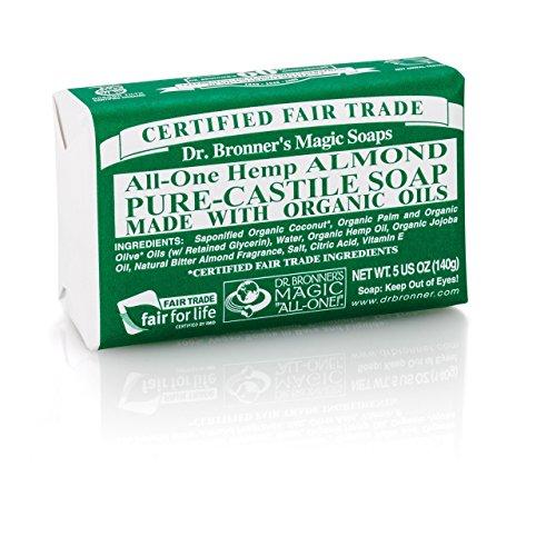 (10 PACK) - Dr Bronner - Org Almond Soap Bar | 140g | 10 PACK BUNDLE