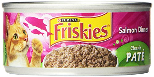 Friskies Wet Cat Food, Classic Pate, Salmon Dinner, 5.5-Ounc