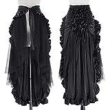 Women Gothic Victorian Steampunk Skirt Bustle Style BP000206-1 XL Black
