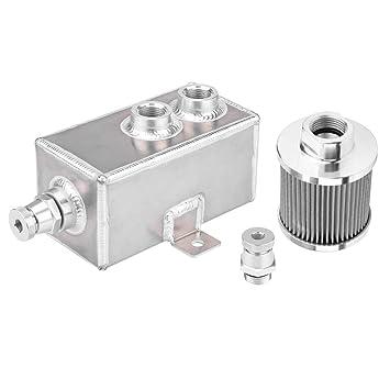 KIMISS [Aluminio y acero inoxidable] 1L Depósito de aceite ...