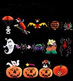 Halloween Christmas Hanging Ornaments Bar Decoration Kit Pumpkin, Spider, Bats, Ghost, Witch Set of 14