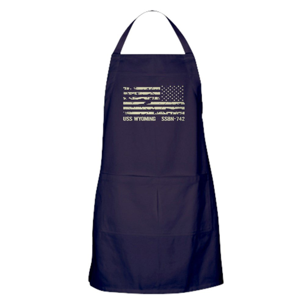 CafePress - USS ワイオミング - ポケット付きキッチンエプロン グリルエプロン ベーキングエプロン   B077WHGPVT
