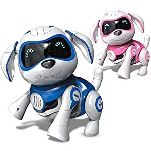 IJKLMNOP Remote Control Robot Dog Toy,Pet Robotic Dog Interactive Kids Toy Puppy Walks Barks Sits With Lights And Music…