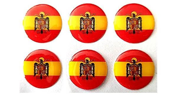 NEW TORO Pegatina de Resina Bandera España Redonda con Escudo Aguila España 22mm, 6 Uds: Amazon.es: Hogar