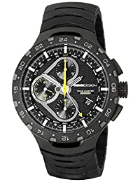 Momo Design Men's MD100BK-02BKBK Master Racer Stainless Steel Watch with Black Titanium Band