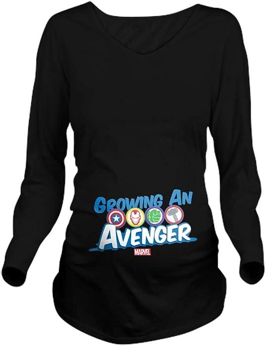 1ff51910f CafePress Growing an Avenger Long Sleeve Maternity T Shirt Long Sleeve  Maternity T-Shirt,