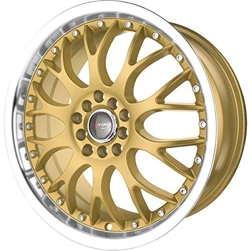 Drag Wheels DR-19 17x7.5/ 5x100/ 5x114.3 et45 Gold Rims (Honda Civic Rims Gold)