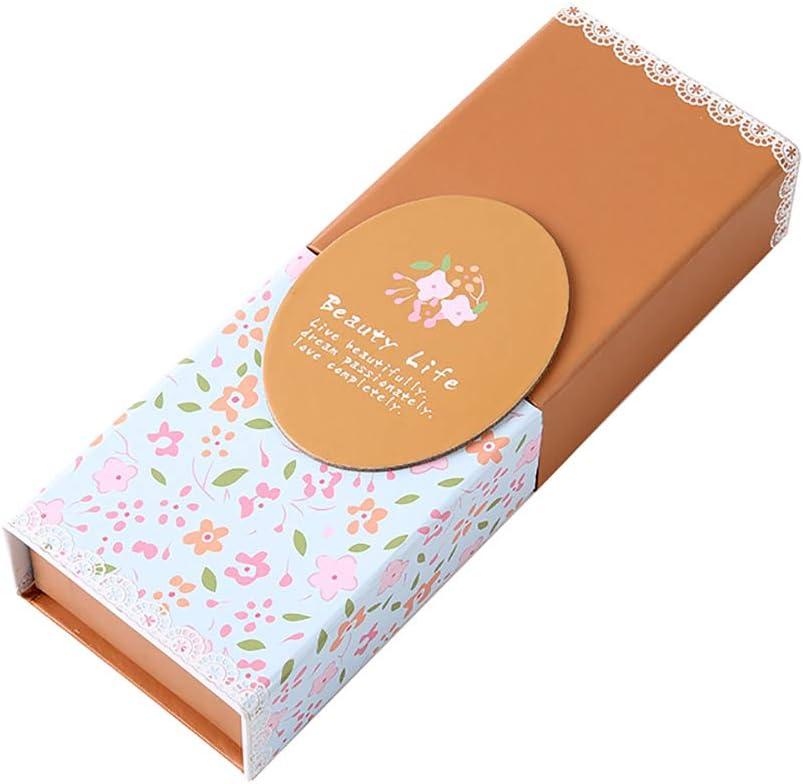 Monbedos - Caja de cartón plegable para bolígrafos, diseño creativo, color Naranja 21.5 * 7.5 * 3.7cm: Amazon.es: Oficina y papelería