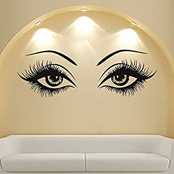 Amazoncom Eyes Wall Decals Beauty Salon Girl For Hood Decor - Wall decals eyes