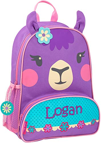 Monogrammed Me Personalized Sidekick Backpack, Purple Llama, with Embroidered Name