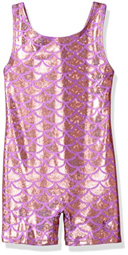 Danskin Big Girls' Gymnastics Unitard, Mermaid Pink, Large (12/14)