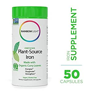 Amazon Com Rainbow Light Certified Plant Source Iron