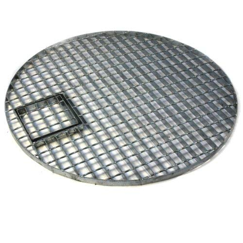 Direct Global Trading 90cm Round Galvanised Water Feature Grid Ideal for Stone Granite Monoliths