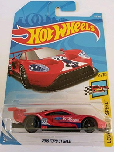 - Hot Wheels 2018 50th Anniversary Legends of Speed 2016 Ford GT Race 195/365, Red
