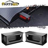Partsam 2Pcs Heavy Duty Black Steel Utility Truck Trailer 6\