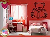 Wall Stickers Vinyl Decal Bear Book Toy For Kids Nursery Home Decor ig664